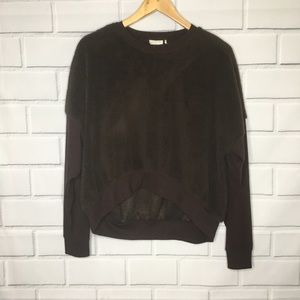 Out From Under Brown Teddy Fleece Sweatshirt (M)